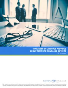 Taxability of Employer-Provided Group Term Life Insurance Benefits
