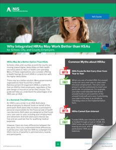 Why Integrated HRAs May Work Better Than HSAs for Schools, Cities, and Counties