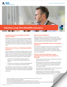 Voluntary Long Term Disability Insurance